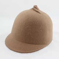 Personality fashion female wool lovely short eaves pointed hat equestrian knight hat