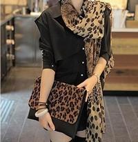 Korean fashion new Leopard Chiffon scarves scarves scarf shawl