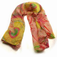 Indian pattern chiffon scarf