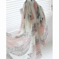 Eiffel Tower Oversized  Scarf