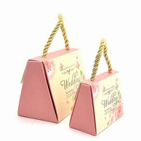(100PCS) Pink  small Candy Boxes