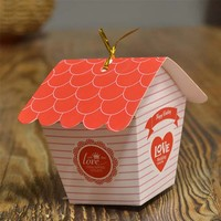 (100PCS) House Candy Boxes