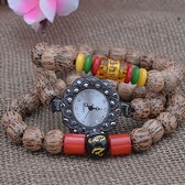 Retro coconut wood Bodhi Buddha beads Bracelet watch
