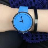 Simple leisure braid belt watch