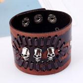 Leather Skull Bracelet
