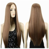 Long straight centre parting fashion wigs