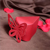 (100PCS,S)Hollow butterfly Candy Box
