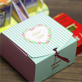 (100PCS,L) Striped Love Candy Box