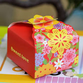 (100PCS,S)Flower Candy Boxes