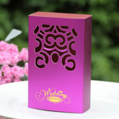 (100PCS)Peony handbag Wedding Candy Boxes