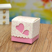 (100PCS)Peach Heart Candy Boxes