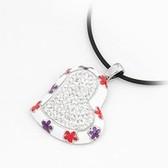 (White) fine Korean titanium color retention diamond love pendant