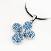 (Highland) titanium Korean fine diamond butterfly pendant color retention