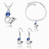 Austria crystal Crystal Set - Dolphin Story (Blue)
