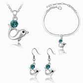 Austria crystal Crystal Set - Dolphin Story (Blue Zircon)