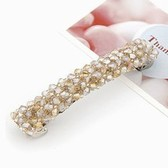 Champagne Gold) Fashion handmade beaded word prepared folder / folder hairpin side