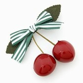 Japanese Vivi LENA with ultra sprouting cherry bow hair clips and folders / hair accessories