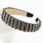 Korean fashion pure hand-woven wide-brimmed beaded hair bands headband