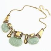 European and American retro bohemian charm bag temperament short necklace