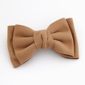 Korean fashion plush oversized double bow hair accessories / hairpin / side folder