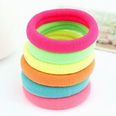 (1 price) Korean fashion sweet fluorescent color rubber band hair band hair rope (color random)