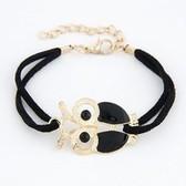 Korean fashion personality metal drip owl bracelet