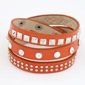 Snap Button leather multilayer bracelet