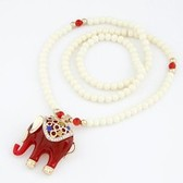 European and American fashion classic good luck elephant beads long necklace / sweater chain