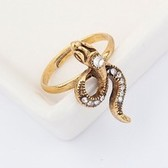 Korean personality snake ring ( bronze )