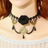 Retro Gong Ting lace necklace