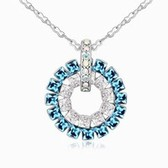 Austrian crystal necklace(blue)