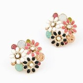 Han edition fashionable OL sweet chrysanthemum temperament stud earrings
