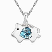 zodiac crystal necklace