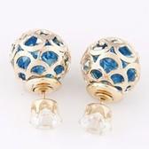 Metal ball shine earrings
