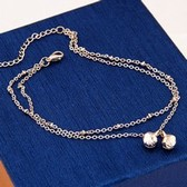 Fashion metal bells double anklets