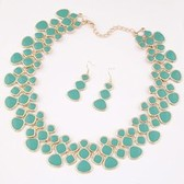 Fashion metal simple necklace Earring Sets