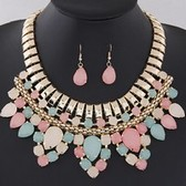 fashion necklace earrings jewelry set