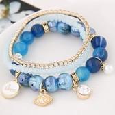 natural stone crystal bracelet