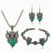 tophus owl necklaces earrings bracelets jewelry set
