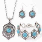 Tophus Necklace Earrings Bracelet Jewelry set