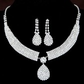 Fashion flash diamond necklace Earring Sets