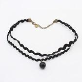 Retro lace pearl necklace