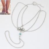 Flower bead anklets