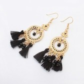 Fashion circle tassel earrings
