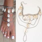 Fashion Shell tassel anklets