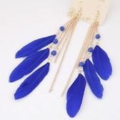 Fashion Metal Bohemian feather earrings