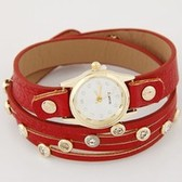 Fashion Flash drill simple leather bracelet watch