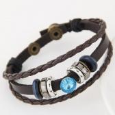 Fashion gem leather bracelet