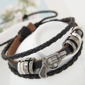 Fashion metal pistol leather bracelet