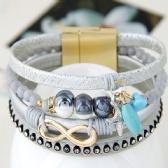 Fashion metal leather bracelet